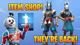 *NEW* SLUSHY SOLDIER & TARO, NARA SKINS RETURN!! Fortnite Item Shop January 9, 2019