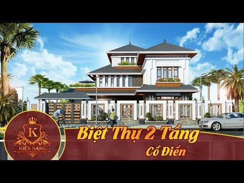 Bản vẽ mẫu thiết kế kiến trúc Biệt Thự 2 Tầng Cổ Điển – Kiến Sang
