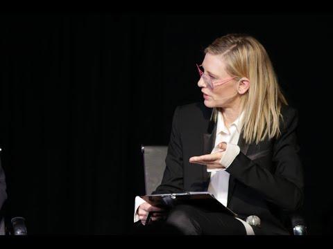 Cate Blanchett spotlights greatest crisis since World War II