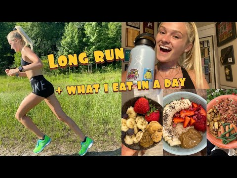 Running vlog + what I eat in a day