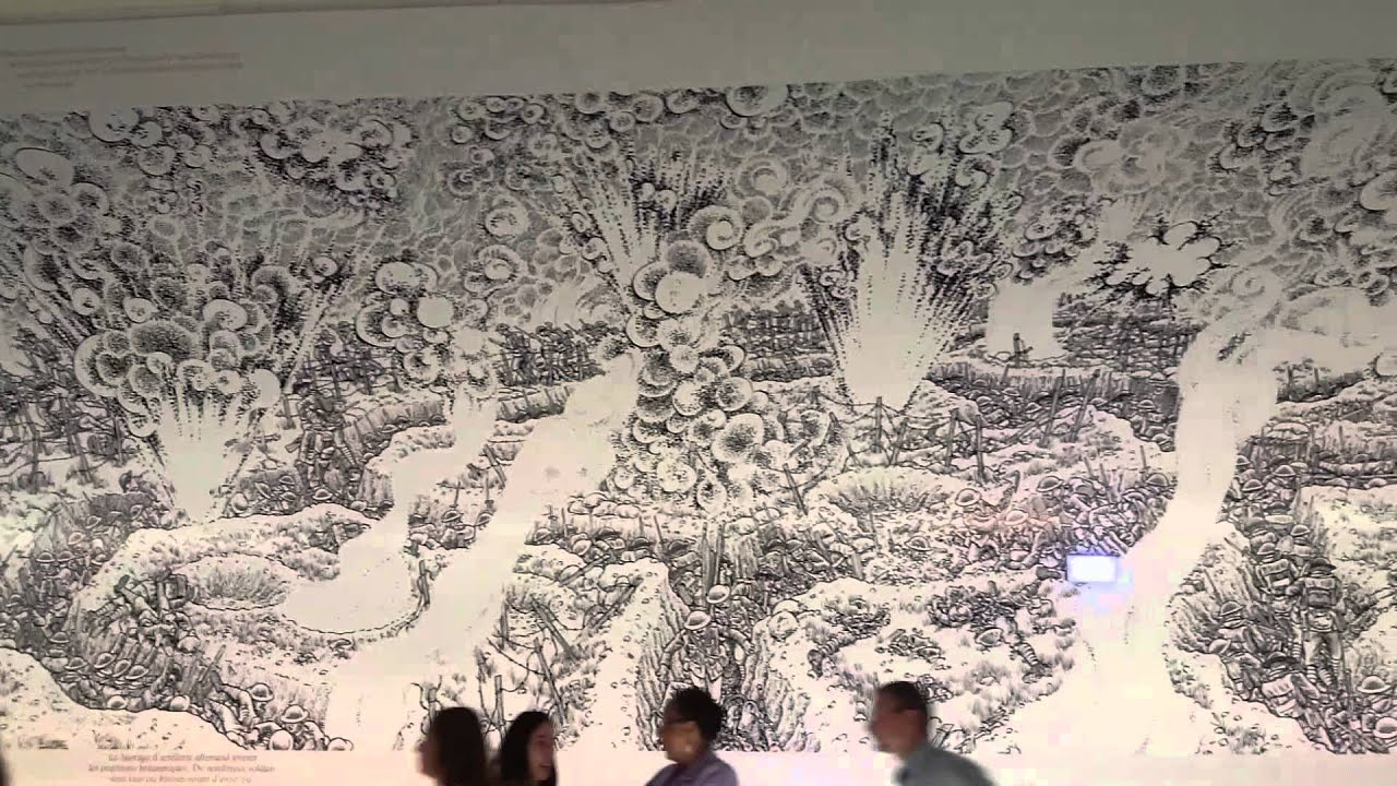 Battle of the somme timeline mural youtube for Siege mural rabattable