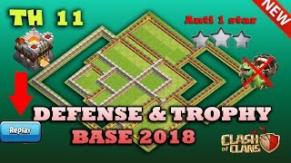 TH 11 Legend Defense And Trophy Base With Reply 2018 Anti 1 Star / Anti 2 Star