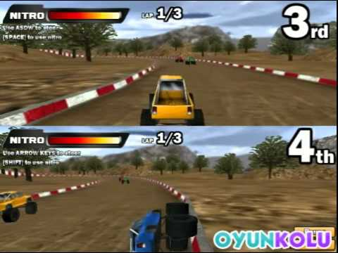 İki kişilik 4x4 araba yarışı oyunu nasıl oynanır - youtube