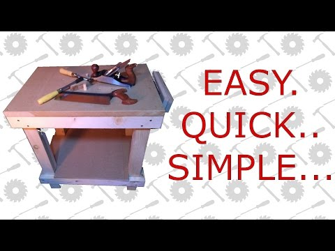 Small Wooden Workbench – Quick & Simple