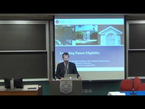 "IPSC 2015 – David Taylor – ""Amending Patent Eligibility"""