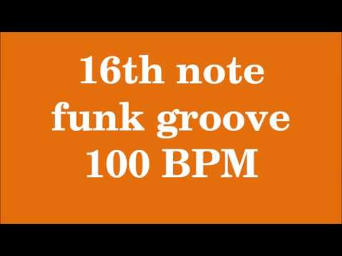 Drum Loop for Practice 16th note funk groove 100 bpm