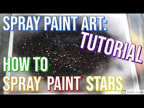 Spray Paint Art Tutorial - Lesson Two: How To Spray Paint Stars - Spray Paint Art by Charli thumbnail