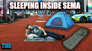 Download I Slept Overnight Inside the SEMA Auto Show! (And Didn't Get Caught) Mp3 and Videos