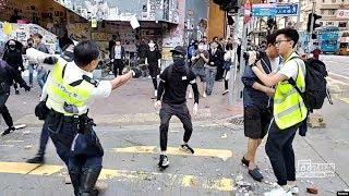 VOA连线(林枫):示威者周二再度发起行动,香港多地爆发激烈冲突