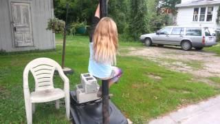 5 year old pole dancer