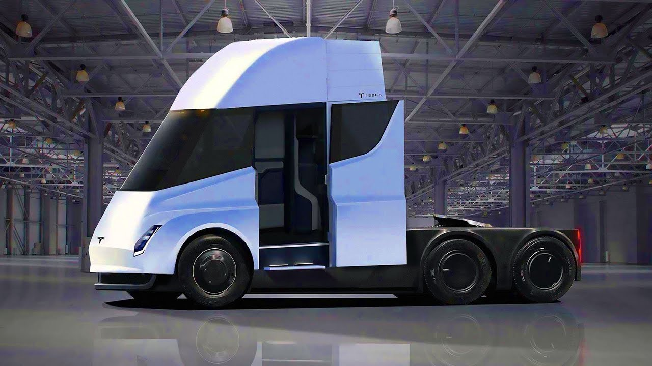 tesla semi render of first electric truck from tesla