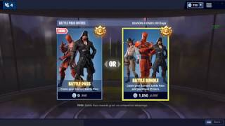 Fortnite Season 8 free battle pass Skin shows / pickaxes and much more