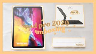 ipad pro 2020 11-inch unboxing + magic keyboard & apple pencil ✨