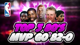 Could The Top 5 1980's NBA MVPs go 82-0?