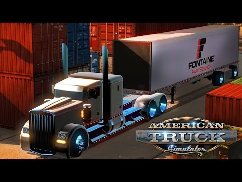 American Truck Simulator - Fontaine container - Vermont to Connecticut