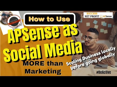 How to Use APSense as social media more than Marketing #BeActive | SUCCESS NET PROFIT APSense Social