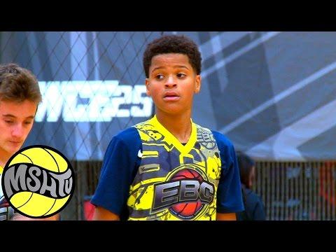 Shaq's Son has a JUMPER - Shaqir O'Neal 8th grader at EBC West Camp