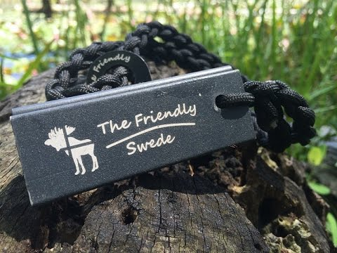 The Friendly Swede Fire Steel and Magnesium on Paracord: Simple and Solid