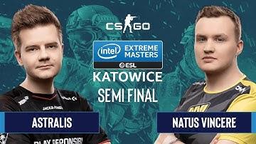 CS:GO - Astralis vs. Natus Vincere [Dust2] Map 1 - Semifinals - IEM Katowice 2020