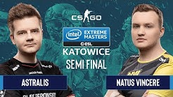 CS:GO - Astralis vs. Natus Vincere [Dust2] Map 1 - Semifinals - IEM Katowice 2020