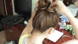 [教學] 橡皮圈簡單丸子頭ALL BACK綁髮.AVI