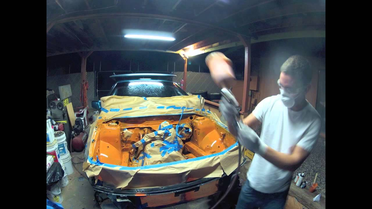 Engine bay painting my rally car youtube for Painting my car