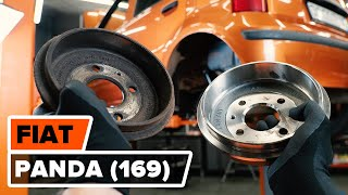 How to change rear brake drum on FIAT PANDA (169) [TUTORIAL AUTODOC]