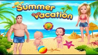 SUMMER VACATION  FUN Kids Games Childrens build Tower
