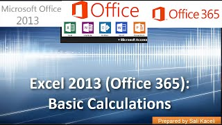 calculating the sum average etc in excel 2013 office 365 part 2 of 18