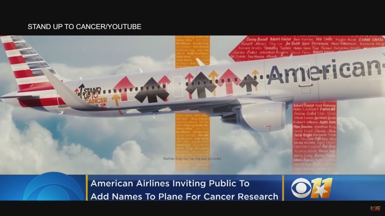 Stand up to cancer plane