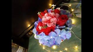летний декор покупки FIX PRICE экибана цветочный горшок из искусственных цветов в домашних условиях