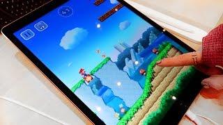 Super Mario Run demo at the Apple Store on an iPad Pro! | iJustine