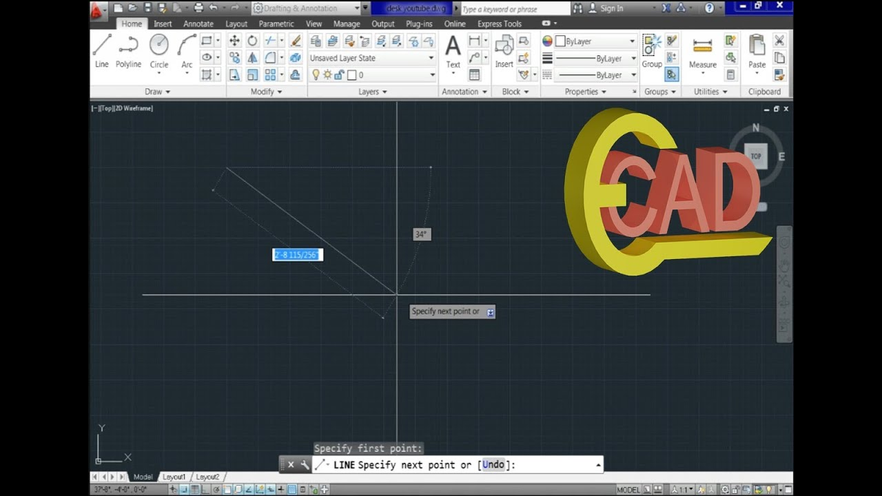 Autocad 2d practice drawing | exercise 10 | basic tutorial youtube.