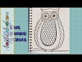 How to Draw Easy Owl Coloring Pages for Beginners and Kids | Zentangle Pattern