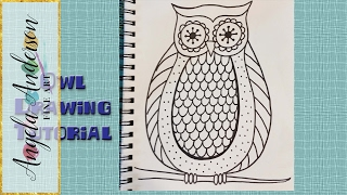 drawing pattern easy draw owl beginners coloring zentangle drawings pages paintingvalley