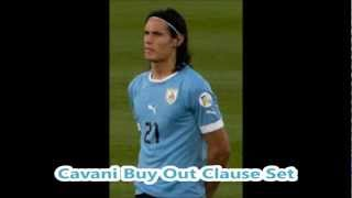 Edinson Cavani Buy Out Clause Set 3/18/13
