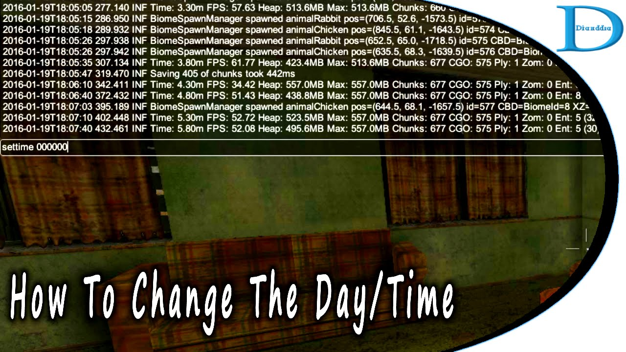How To Change The <b>Day</b> And Time In <b>7 Days</b> To <b>Die</b> - YouTube