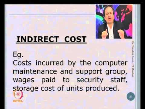 Mod-08 Lec-19 Types of Costs