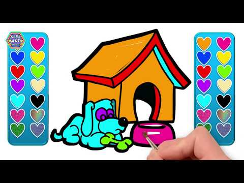 how to drawing a lovely dog with home 🐾🐶 Drawing And Coloring Pages For Kids