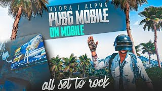🔴PUBG MOBILE LIVE : H¥DRA | Alpha ON MOBILE #DAY 4 || AWM HEADSHOTS AND CUSTOM ROOMS !