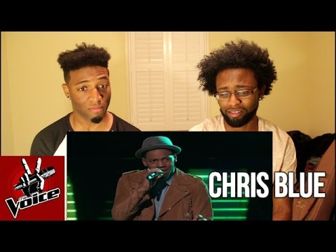 "The Voice Blind Audition - Chris Blue: ""The Tracks of My Tears"" (Reaction)"