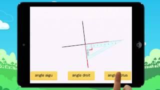 Video 2  Angle droit, aigu ou obtus  Ton équerre est déjà placée Exemple1