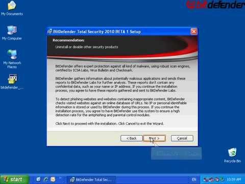Remix: BitDefender Total Security 2010 BETA Installation Demo