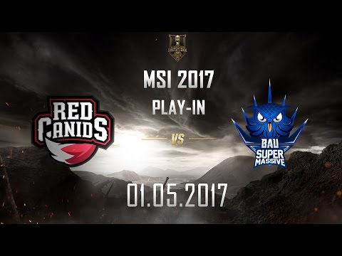 [01.05.2017] RED vs SUP [MSI 2017][Play-in]