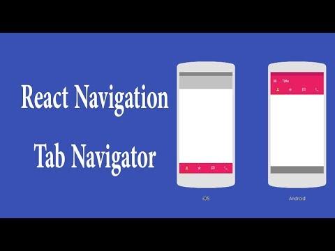 react navigation tab navigator with examples