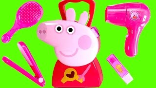 Peppa Pig Hair Style Set Toy Video Peluquería de Peppa Pig Toys Juguetes