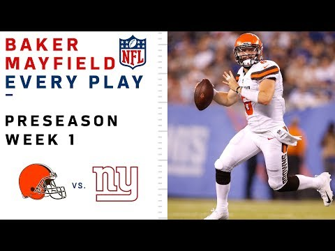 Every Baker Mayfield Throw & Run vs. Giants