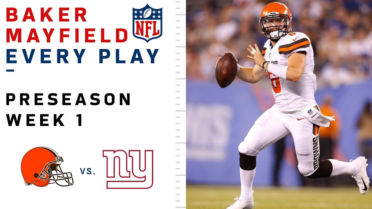 Baker Mayfield has perfect quarterback rating in Cleveland Browns preseason opener: Browns vs. Redskins by the ...