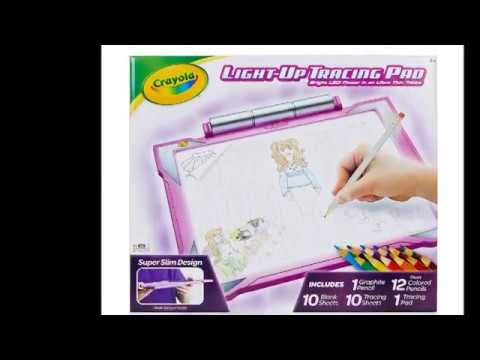 Crayola Light Up Tracing Pad Pink Amazon Exclusive Toys Gift For Girls Ages 6 7 8 9 10 Youtube