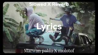 Marwan pablo X molotof - Geb flos [ Slowed X Reverb ] - ( Lyrics video )